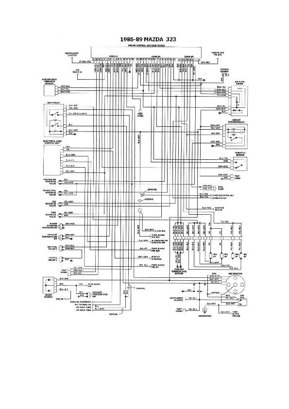 Mazda Mazda 323 5  6 Esqmzd032 Pdf Diagramas De Autos