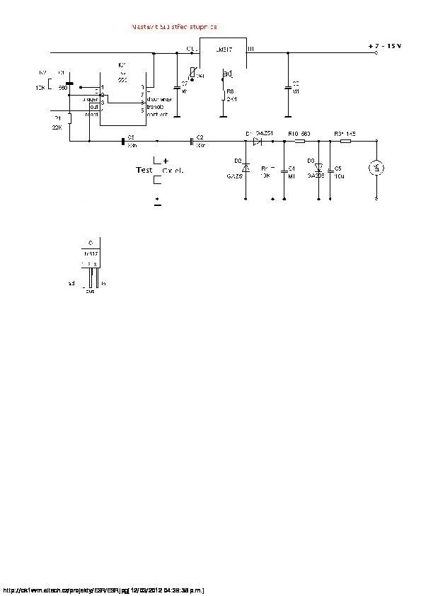 notas tecnicas para desarrollos de circuitos medidor esr con 555 y lm317 pdf diagramas de