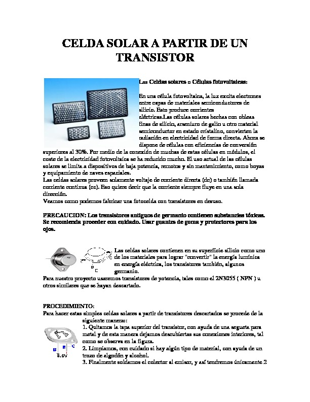 CELDA SOLAR A PARTIR DE UN TRANSISTOR.pdf