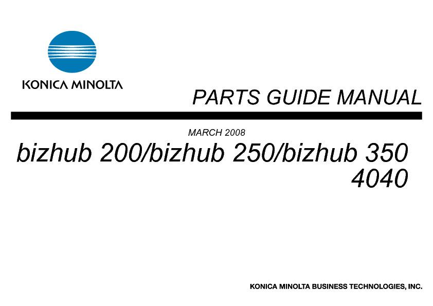 Manual de Partes Bizhub 250-350.pdf