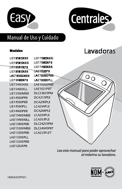 Easy Lae1021pbt Pdf Diagramas De Lavarropas Secadoras