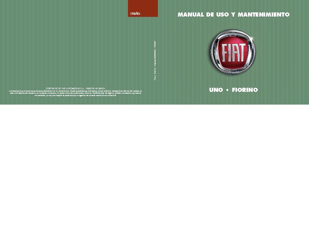 Fiat 60355203 Uno Fiorino Pdf Diagramas De Autos