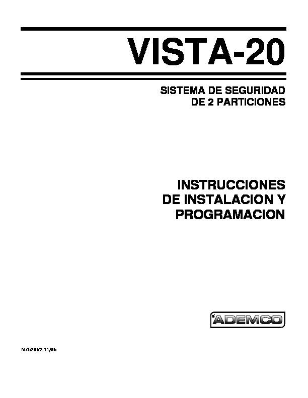 vista 2    20 vista 20 manual instalacion esp pdf diagramas de alarmas  u2013 diagramasde com