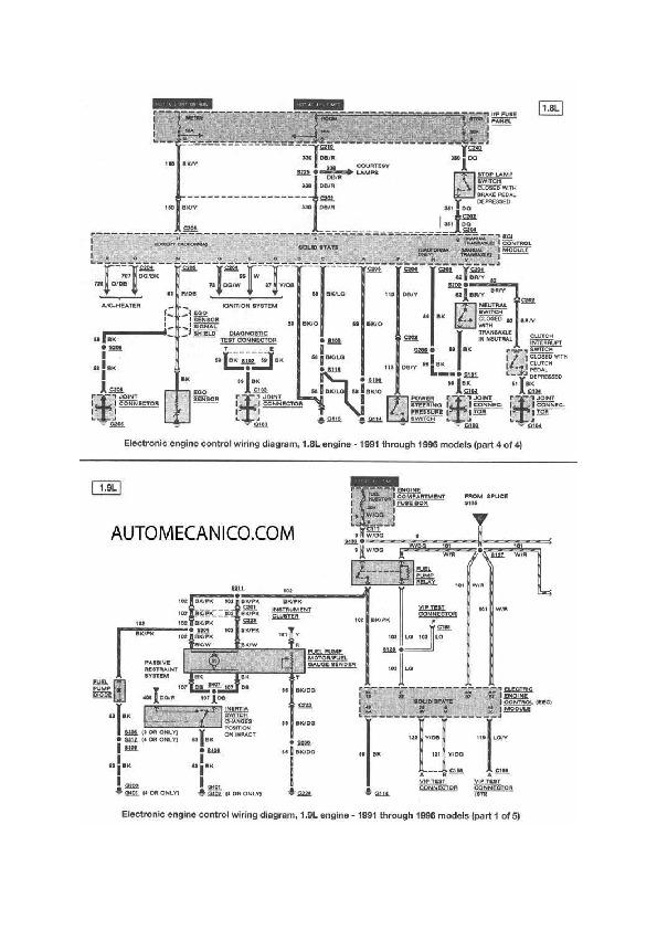 Ford Escort 10  48 Fordesc6 Pdf Diagramas De Autos