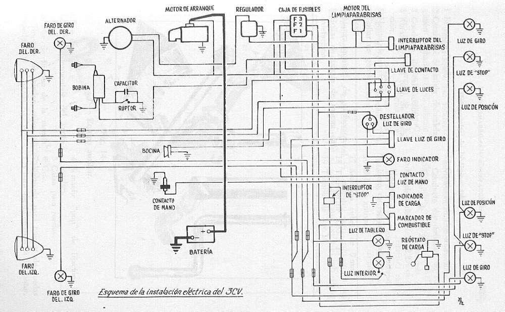 Citro U00ebn 3cv Esquema Electrico 3cv Jpg Diagramas De Autos