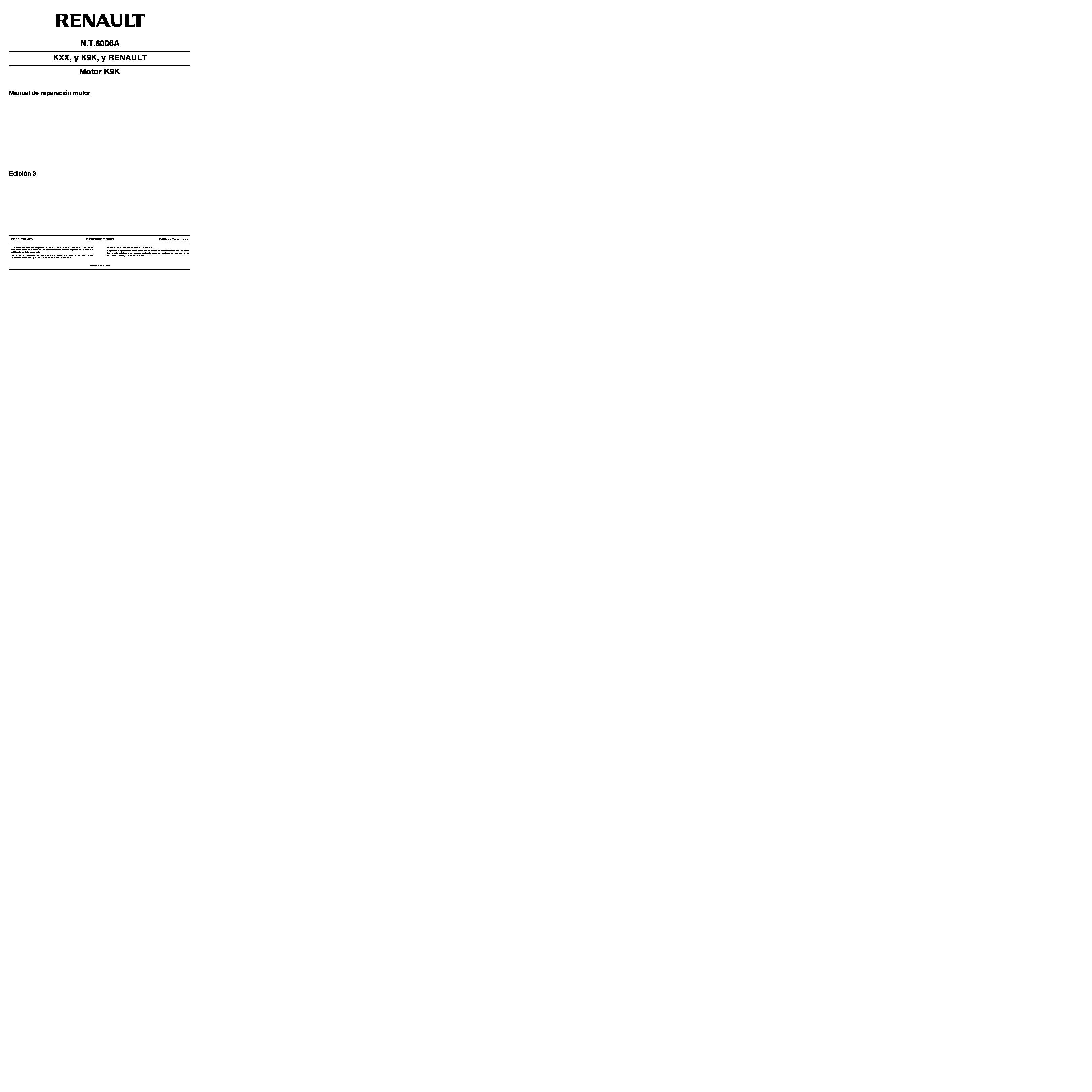 Automovil Manual Megane Ii 1 5 Dci Motor K9k Pdf Diagramas