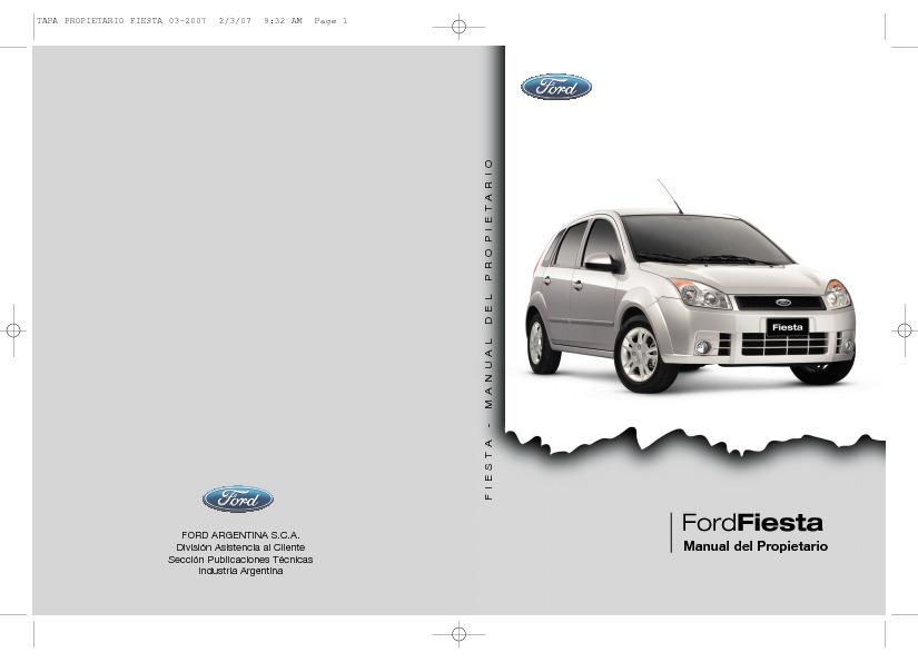 Ford Fiesta 2007 Manual Fiesta Pdf Diagramas De Autos