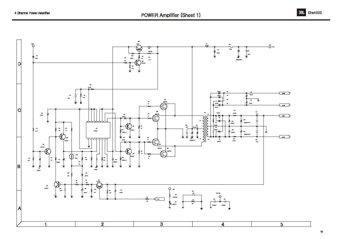 Jbl Gto4000 Service Manual 2de2 Pdf Diagramas De Audio