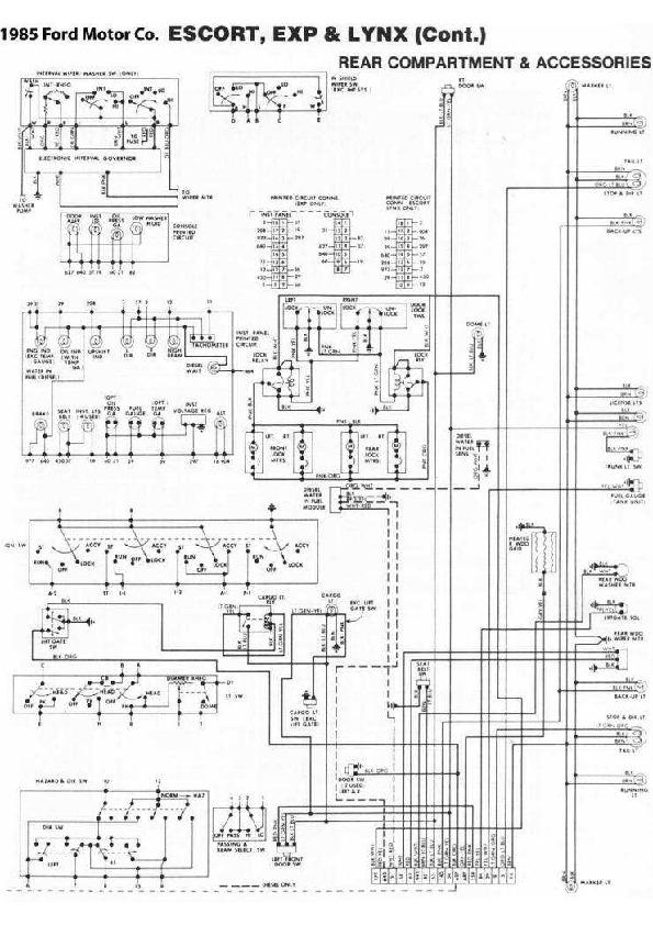 Ford Escort 4  48 Diag85040 Small Pdf Diagramas De Autos