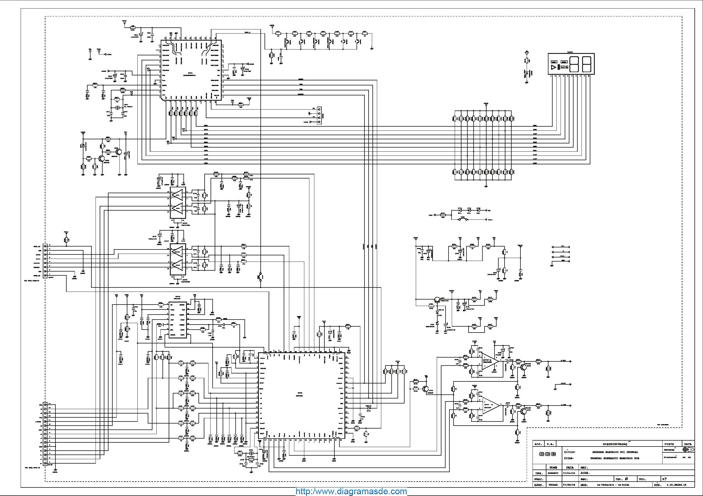 CCE Audio CS-7600D Diagrama Esquematico.pdf