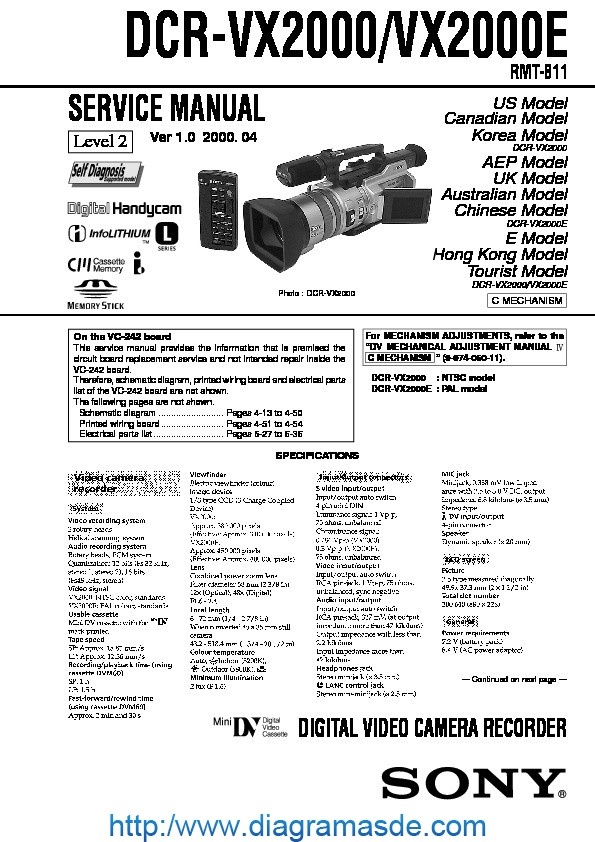 SONY DCR-VX2000 SONY DIGITAL VIDEO CAMERA RECORDER.pdf