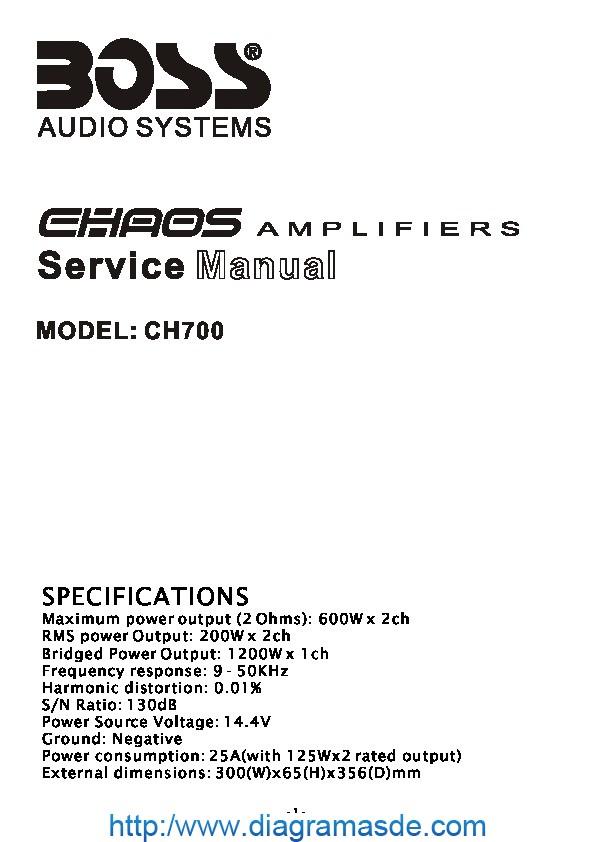 BOSS CH700 Manual de Servicio.pdf