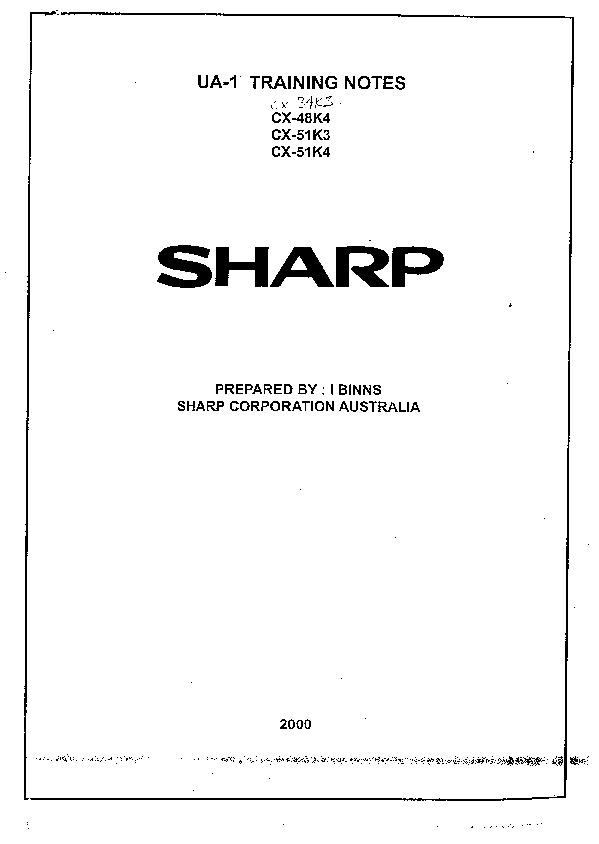 Sharp Cx