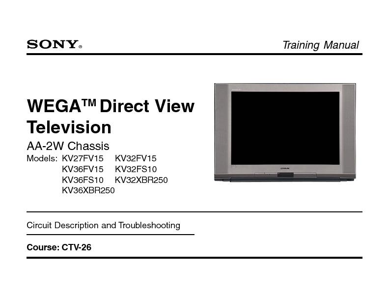 Sony Wega Chassis Aa
