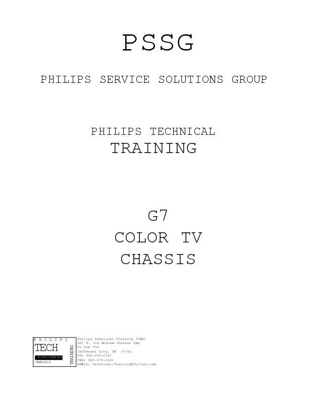 TV PHILIPS CHASSI G 7 Training Manual .pdf