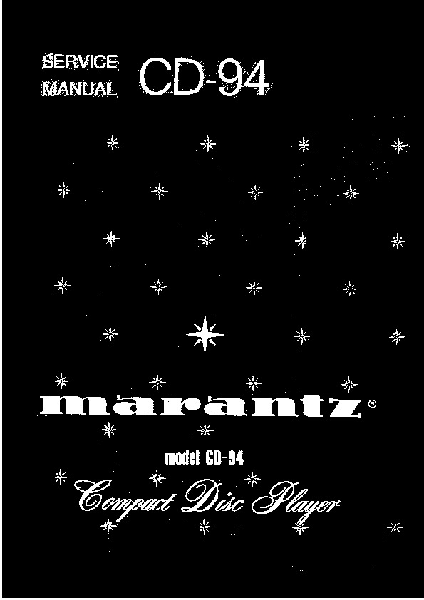 Marantz CD94 Service.pdf