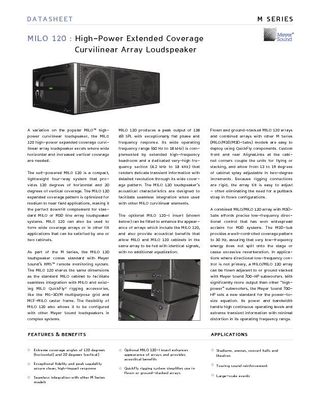 Meyer Sound MILO 120 High-Power Coverage curvilinear array loudspeaker..pdf