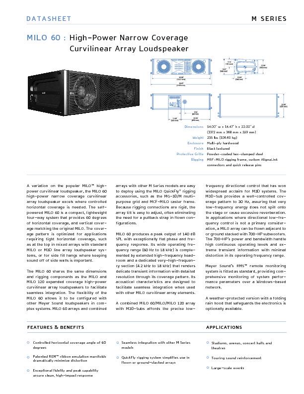 Meyer Sound MILO 60 High-Power Narrow Coverage curvilinear array loudspeaker.pdf