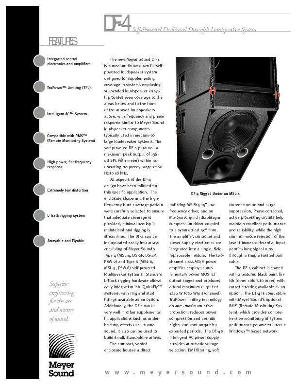 MEYER SOUND DF-4 Dedicated Downfill Loudspeaker.pdf