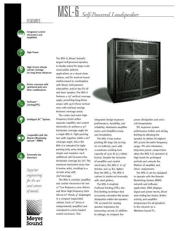 MEYER SOUND MSL-6 Horn-Loaded High-Q Main Loudspeaker.pdf