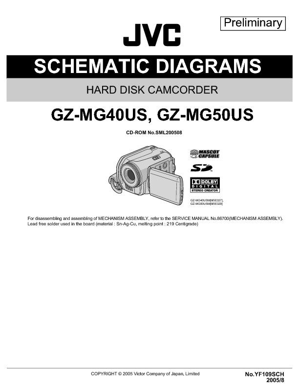 JVC Camcorder GZ-MG40US, GZ-MG50US - Diagrama Esquematico.pdf