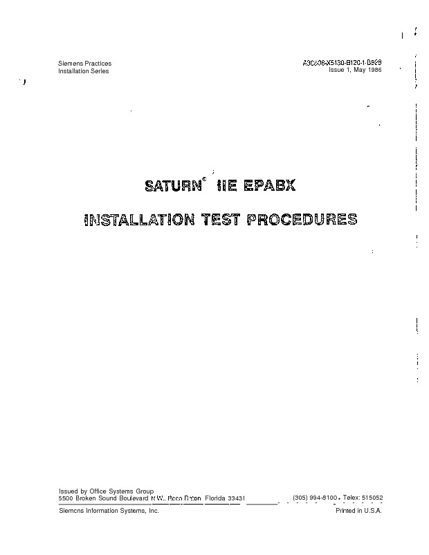 Gigaset Saturn IIe EPABX Installation Test Procedures.pdf