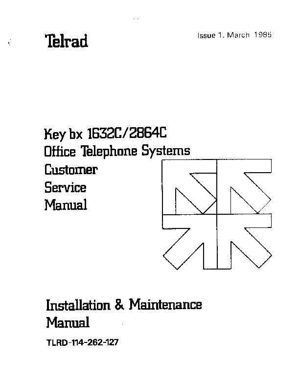 Telrad Key bx 1632c - 2864c Issue 1 Mar 1985.PDF
