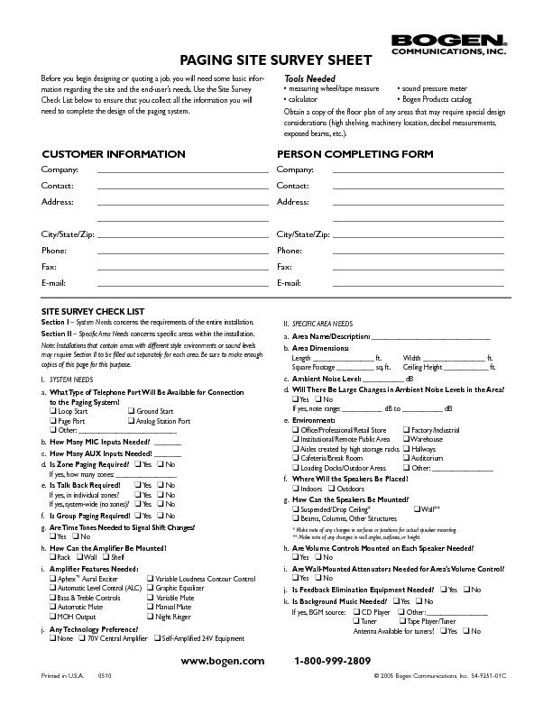 Bogen Paging Site Survey Form.pdf