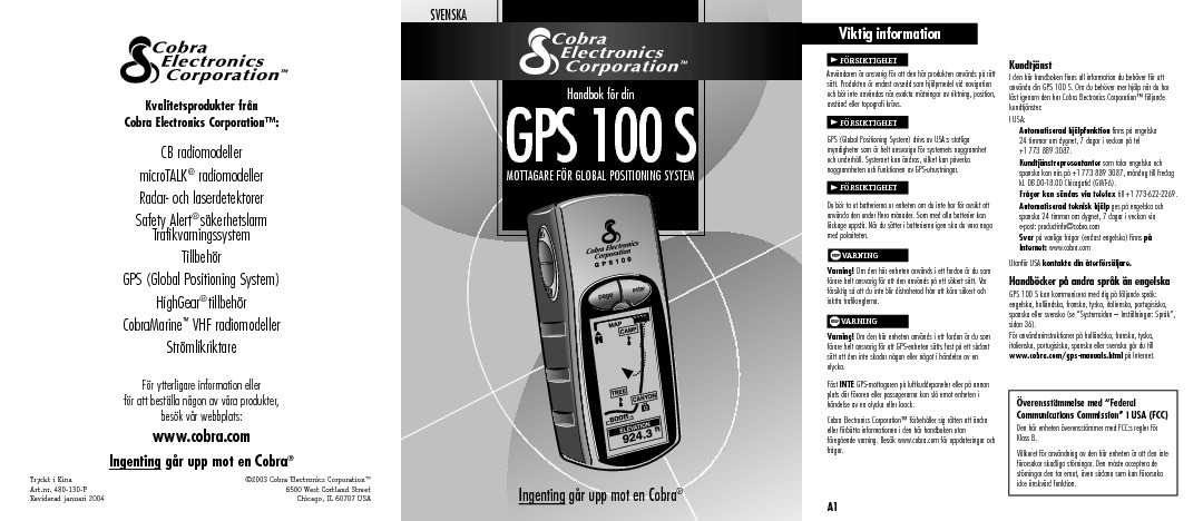 Cobra Swedish GPS100S manual.pdf