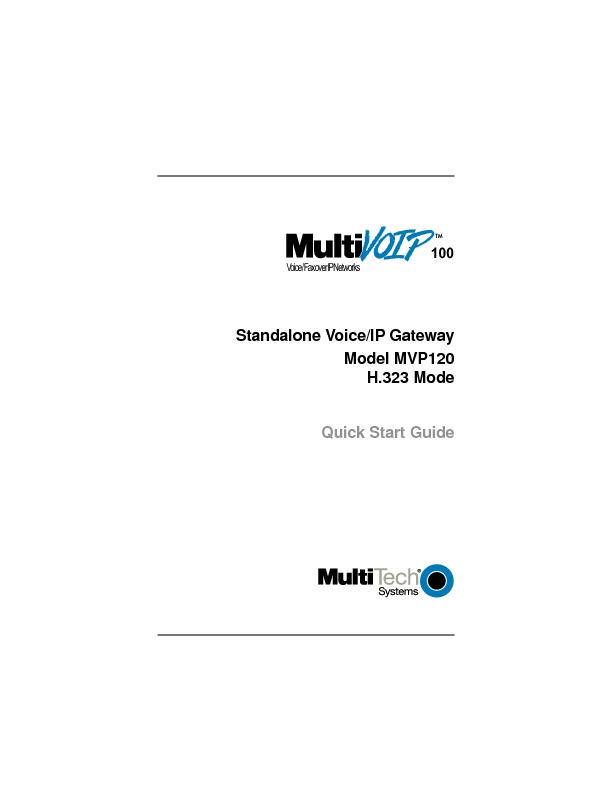 Multitech MVP 120 Quick Start Guide H323 Mode.pdf