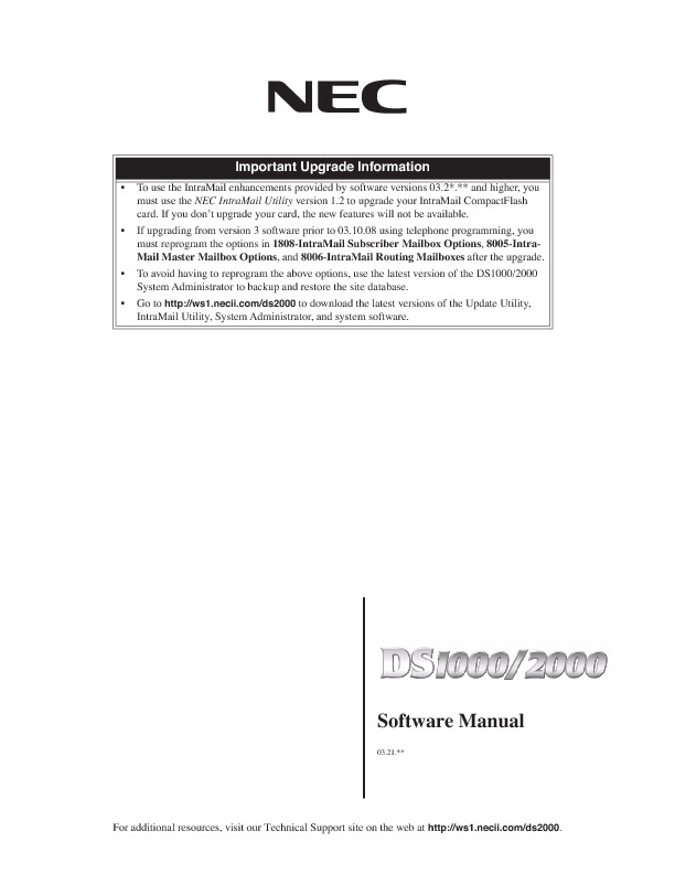 NEC DS1000 - 2000 Software Manual.pdf