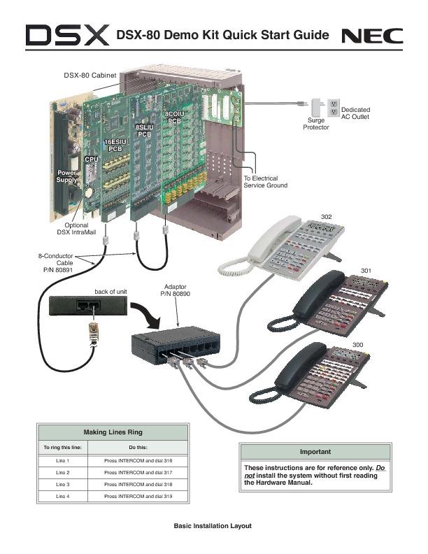 NEC DSX-80 Demo Kit Quick Start Guide Sept 2006 Rev2.pdf