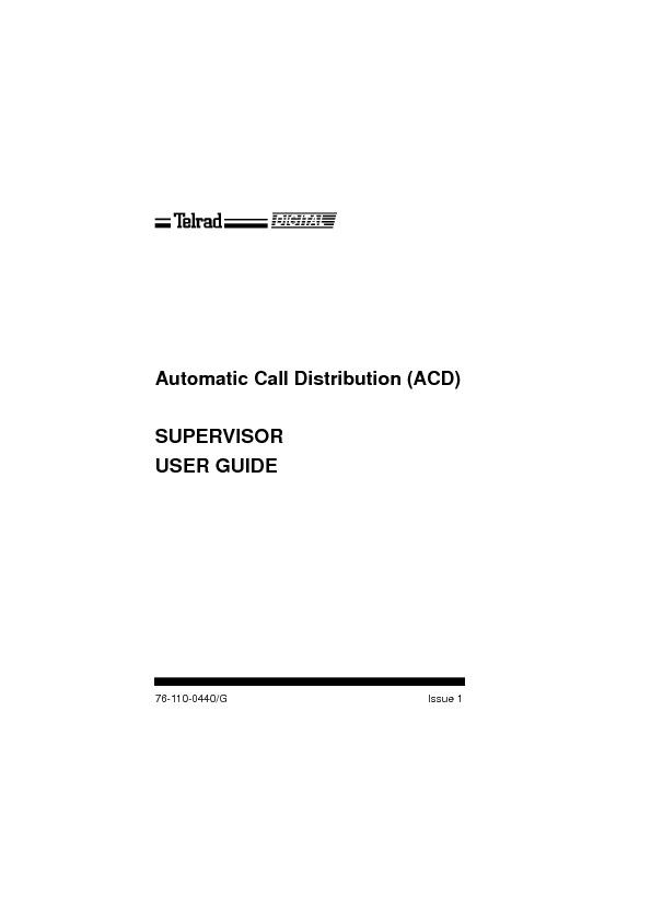 ACD Supervisor User Guide Issue 1.pdf