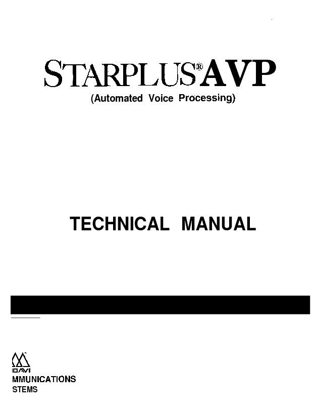Starplus AVP Technical Manual Issue 1 April 1992.pdf