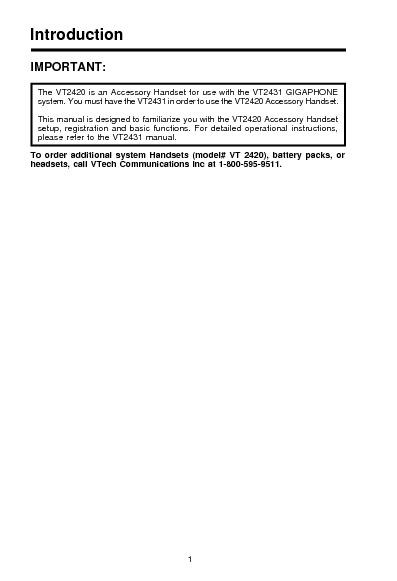 vt2420 2-4GHz Digital cordless phone.pdf