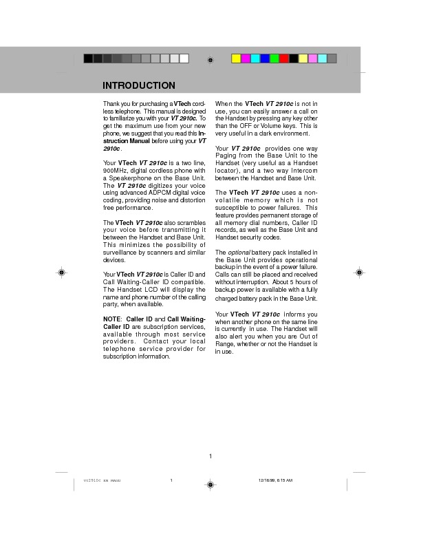 vt2910 2-line Digital 900 MHz w Caller ID.pdf
