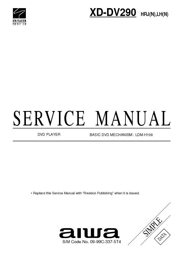 XD-DV290 simple data.pdf