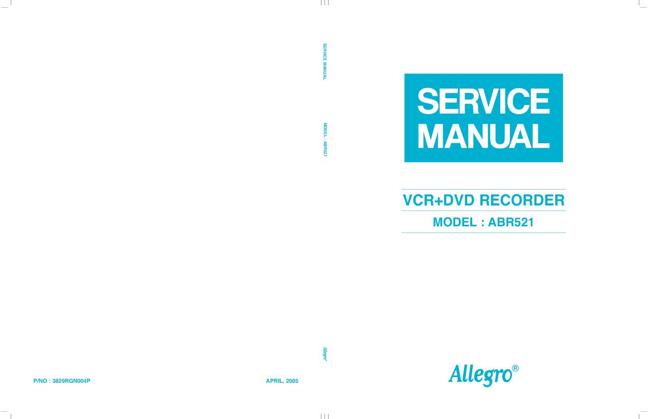 DVD Recorder LG ABR521 Manual de Servicio.pdf