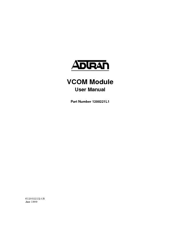 Adtran ATLAS 800 Series Voice Compression Module User Manual.pdf